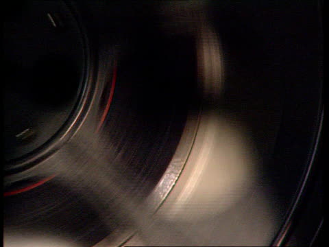 england london film spool turning cms film projector working - projection equipment stock videos & royalty-free footage