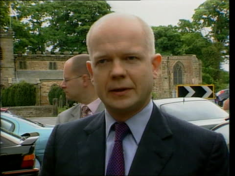 Oldham Race Riot ITN William Hague speaking to press SOT Asylum is entirely separate issue from race much more likely to be chaos mismanagement and...