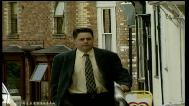 The Aftermath Nick Griffin ITN EXT / Nick Griffin walking shot toward camera