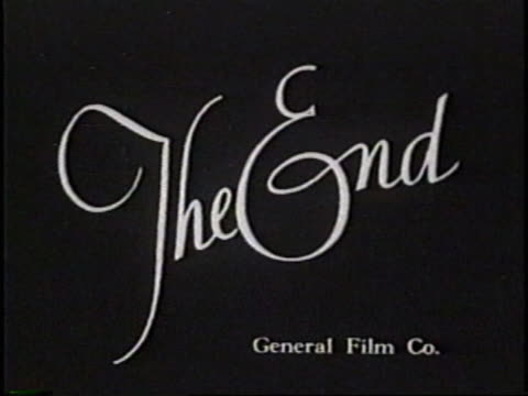 Old-style end credit