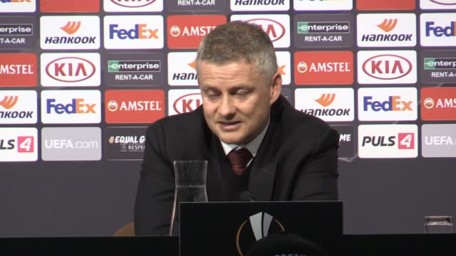 ole gunnar solskjaer preview press conference ahead of manchester united's premier league game against tottenham on sunday march 15. the norwegian... - traditionally austrian stock videos & royalty-free footage