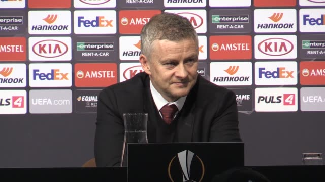 ole gunnar solskjaer was pleased by the professionalism and cutting edge displayed by his players as manchester united romped to victory in front of... - standing stock videos & royalty-free footage