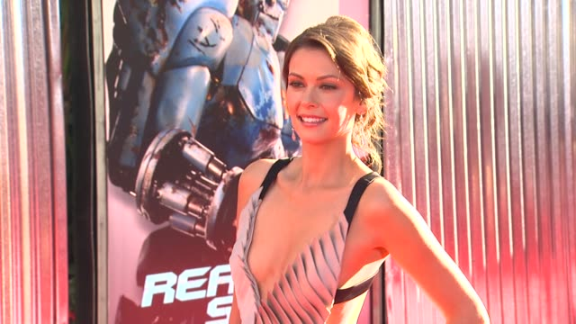 olga fonda at the the world premiere of dreamworks pictures' 'real steel' at universal city ca - universal city stock videos & royalty-free footage