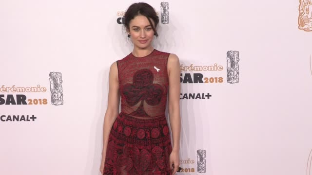 Olga Kurylenko Gilles Lelouche and Alizée Guinochet Guillaume Canet and more on the red carpet for the Cesar Film Awards 2018 at Salle Pleyel in...
