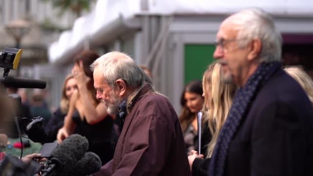 olga kurylenko, jonathan pryce, terry gilliam at 'the man who killed don quixote' uk premiere - 62nd bfi london film festival on october 15, 2018 in... - terry gilliam stock videos & royalty-free footage