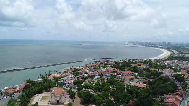 olinda (brazil) - aerial view - brazil stock videos & royalty-free footage