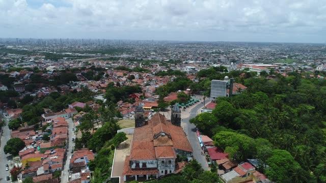 stockvideo's en b-roll-footage met olinda (brazilië) - luchtfoto - brazilië