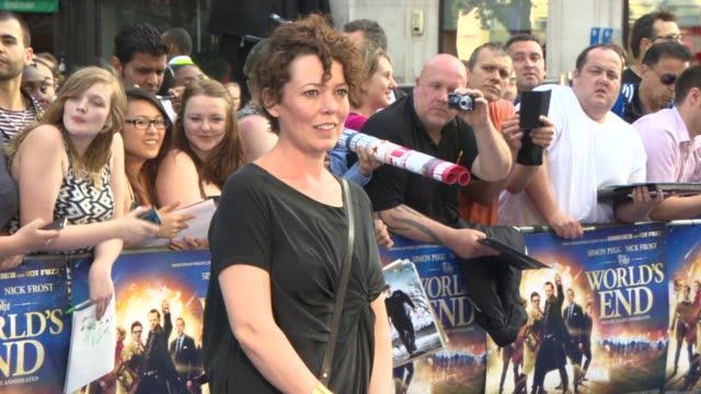 oliva colman, alexander roach at 'the world's end' world premiere at empire leicester square on july 10, 2013 in london, england. - the world's end stock videos & royalty-free footage