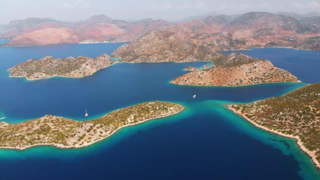 olive island, mediterranean coast, turkey - marmaris stock videos & royalty-free footage