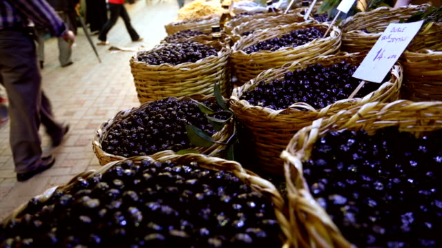 olive stall at farmers market - turks fruit stock videos and b-roll footage