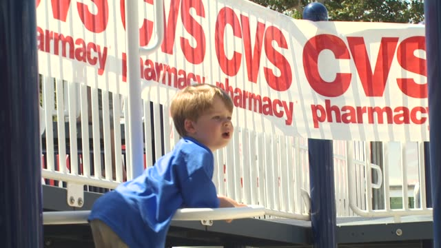 oliver bowen at the cvs/pharmacy 's biggest playdate' at los angeles ca. - cvs caremark stock videos & royalty-free footage