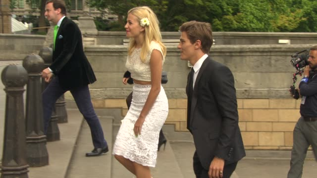 oliver cheshire, pixie lott at london collections men: one for the boys - charity ball at natural history museum on june 15, 2014 in london, england. - the history boys stock videos & royalty-free footage