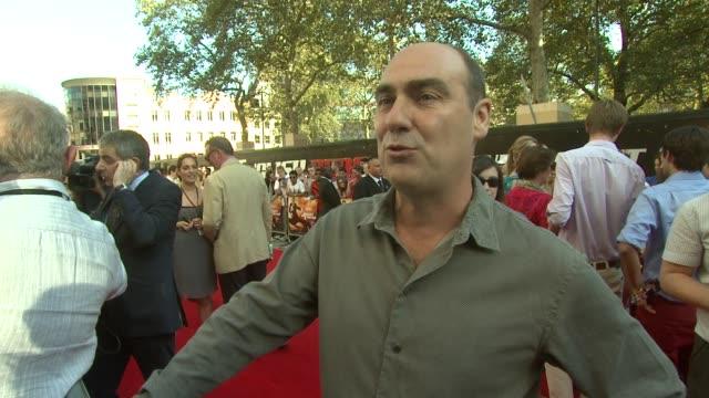 oliver parker on how committed rowan atkinson is at the johnny english reborn uk premiere at london england. - rowan atkinson stock videos & royalty-free footage
