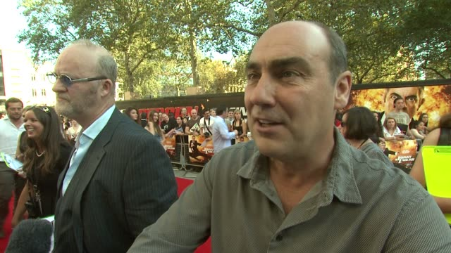 oliver parker on why rowan atkinson is good at being comedic at the johnny english reborn uk premiere at london england. - rowan atkinson stock videos & royalty-free footage