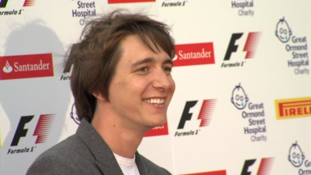 oliver phelps at the f1 party arrivals at london england - oliver phelps stock videos & royalty-free footage