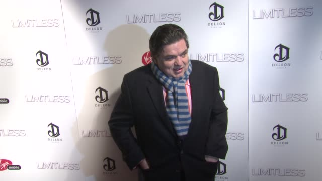 oliver platt at the 'limitless' world premiere arrivals at new york ny - oliver platt stock videos & royalty-free footage