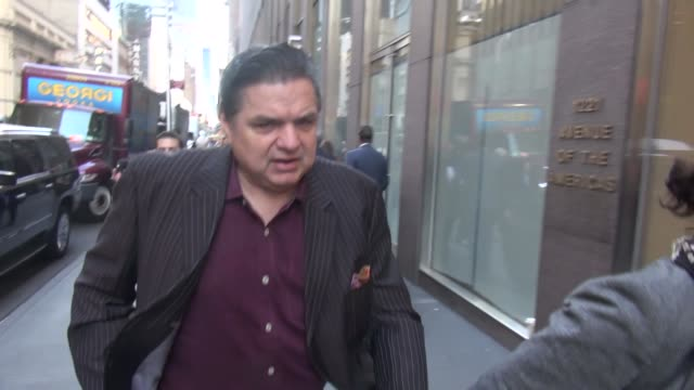 oliver platt promoting 'chicago med' tv series arrives at siriusxm satellite radio in celebrity sightings in new york - oliver platt stock videos & royalty-free footage