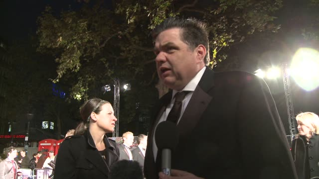 oliver platt talks about the film at the london film festival opening night frost nixon premiere at london - oliver platt stock videos & royalty-free footage
