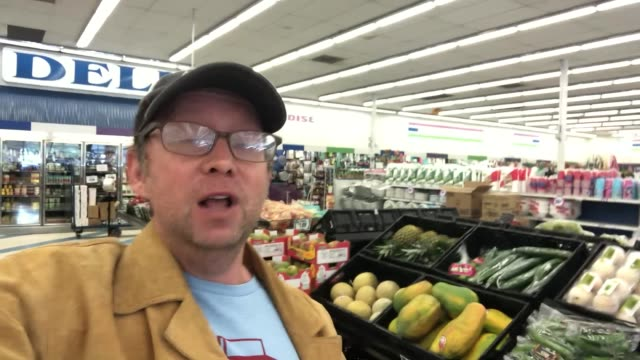 oliver robins talks about how he is coping with the coronavirus lockdown at the dollar tree in burbank in celebrity sightings in los angeles, - celebrity sightings stock videos & royalty-free footage
