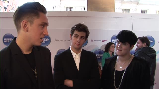 oliver sim, romy madley croft and jamie smith of the xx on being terrified of what winning could mean for the band at the barclaycard mercury prize... - croft stock videos & royalty-free footage