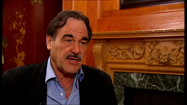oliver stone interview sot my father would turn in his grave / gekko world of 1980s was different but this world is insane - insanity stock videos & royalty-free footage