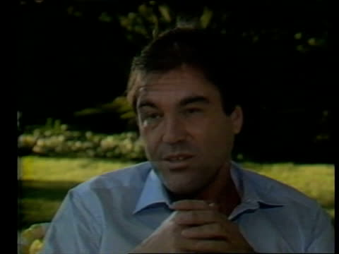 oliver stone interview sot - 1987 stock videos & royalty-free footage