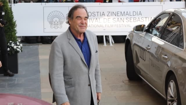 Oliver Stone is seen arriving at Maria Cristina Hotel during 64th San Sebastian International Film Festival