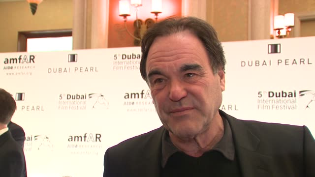 oliver stone on only coming out tonight to support goldie hawn at the 2008 dubai international film festival amfar arrivals at dubai . - goldie hawn stock-videos und b-roll-filmmaterial