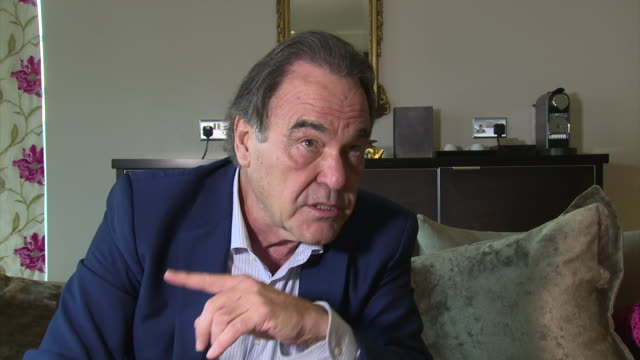 stockvideo's en b-roll-footage met interview oliver stone on snowden and america owning europe at lff interview oliver stone at odeon leicester square on october 17 2016 in london... - oliver stone