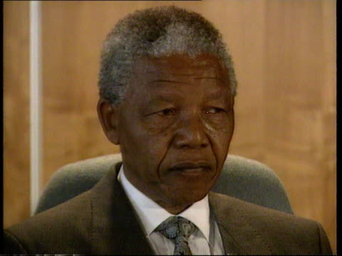 stockvideo's en b-roll-footage met oliver tambo dead; itn south africa: int cms nelson mandela speaking at pkf sot - he was my brother and comrade / my colleague / time is not on our... - itv evening bulletin