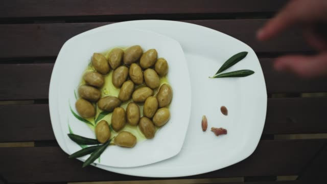 olives on a plate - bowl stock videos and b-roll footage