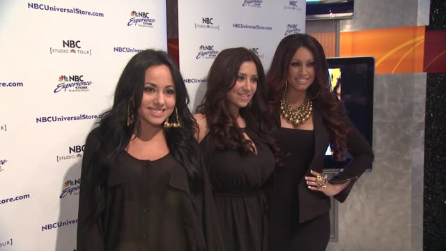 olivia blois sharpe gigi liscio and tracy dimarco at 'jerseylicious' cast meet greet on 3/7/2012 in new york ny united states - meet and greet stock videos and b-roll footage
