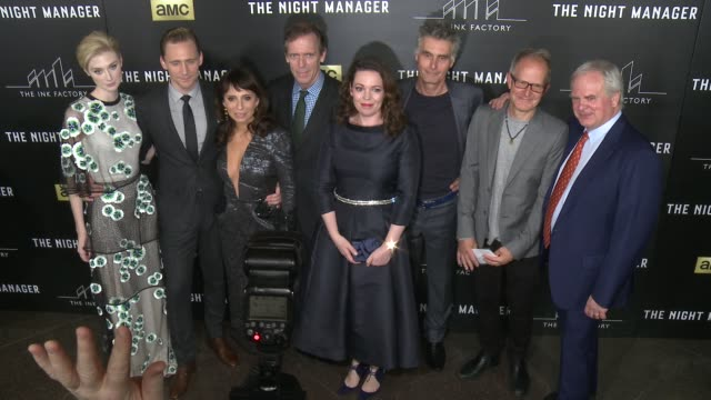Olivia Coleman Tom Hiddleston Elizabeth Debicki Susanne Bier Hugh Laurie Stephen Garrett Simon Cornwell and Stephen Cornwell at The Night Manager Los...