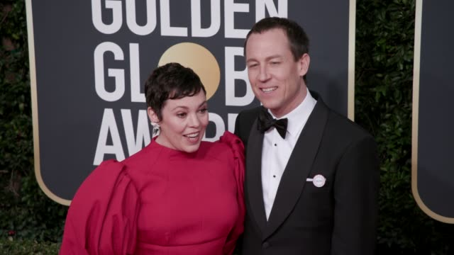 olivia colman at 77th annual golden globe awards at the beverly hilton hotel on january 05, 2020 in beverly hills, california. - the beverly hilton hotel stock videos & royalty-free footage