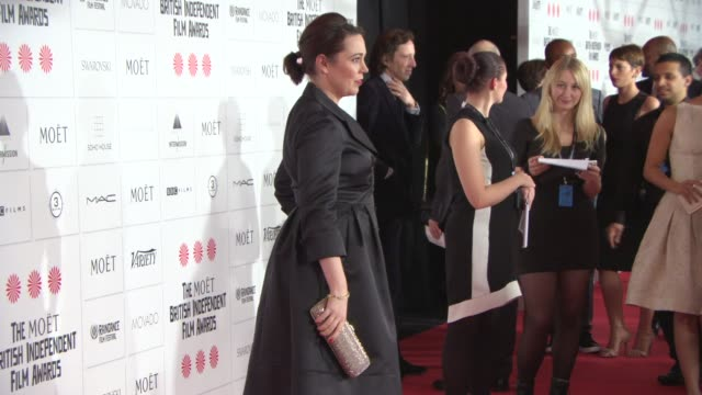 olivia colman at the moet british independent film awards 2014 at old billingsgate market on december 07 2014 in london england - audio electronics stock videos & royalty-free footage