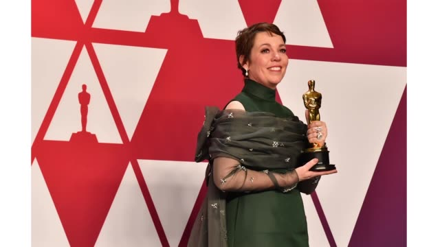 Olivia Colman winner of Best Actress for 'The Favourite' poses in the press room during the 91st Annual Academy Awards at Hollywood and Highland on...
