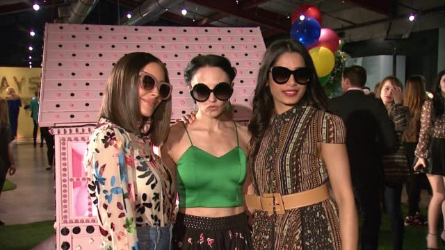 "Olivia Culpo Stacey Bendet Freida Pinto at Alice Olivia by Stacey Bendet ""Eyewear is Art"" Launch in Los Angeles CA"