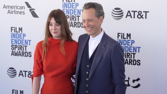 olivia grant and richard e. grant at the 2019 film independent spirit awards on february 23, 2019 in santa monica, california. - richard e. grant stock videos & royalty-free footage