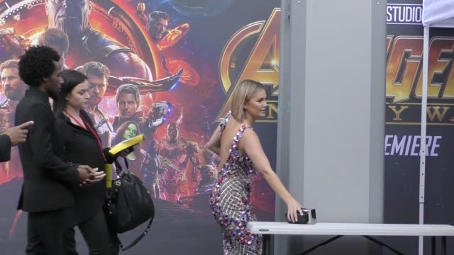 Olivia Holt arrives at the premiere of Avengers Infinity War in Hollywood in Celebrity Sightings in Los Angeles