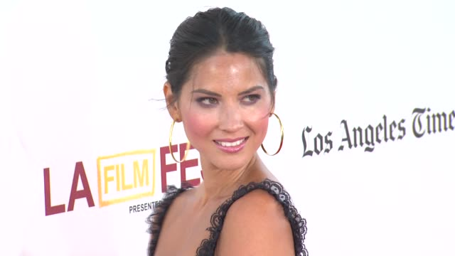 olivia munn at 2012 los angeles film festival closing night gala premiere of magic mike olivia munn at 2012 los angeles film festival clos at regal... - hoop earring stock videos and b-roll footage