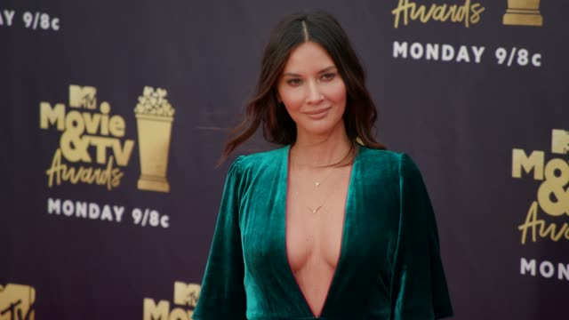Olivia Munn at 2018 MTV Movie TV Awards Arrivals at Barker Hangar on June 16 2018 in Santa Monica California