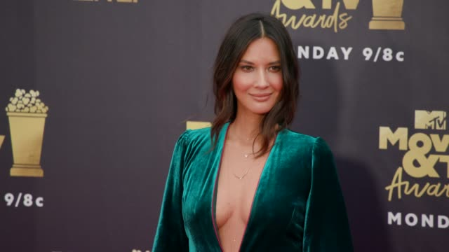 Olivia Munn at 2018 MTV Movie TV Awards Arrivals at Barker Hangar on June 16 2018 in Santa Monica California