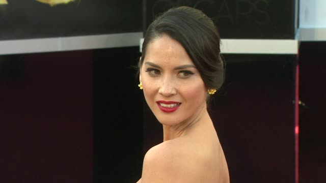 Olivia Munn at 85th Annual Academy Awards Arrivals on 2/24/13 in Los Angeles CA