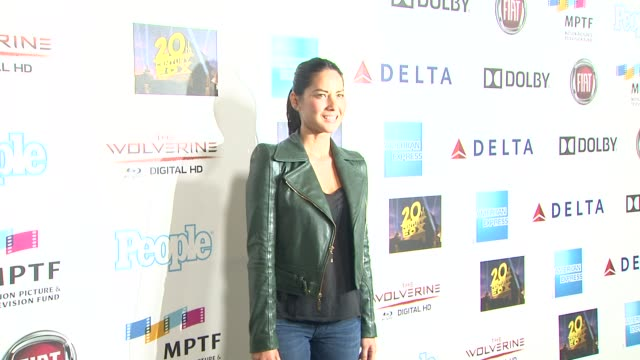 olivia munn at hugh jackman one night only debuts at the dolby theatre benefiting mptf on 10/12/13 in los angeles ca - olivia munn stock videos and b-roll footage