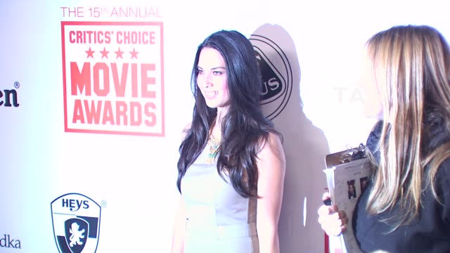 olivia munn at the 15th annual critics' choice movie awards afterparty at hollywood ca - olivia munn stock videos and b-roll footage