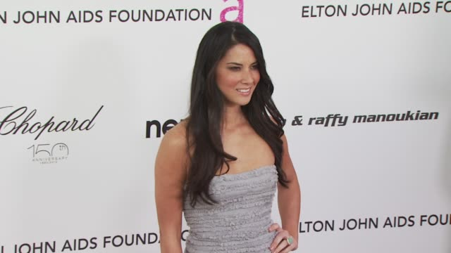 Olivia Munn at the 18th Annual Elton John AIDS Foundation Oscar Party at West Hollywood CA