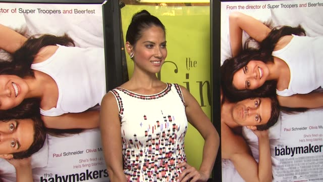 olivia munn at the babymakers los angeles premiere on 7/24/12 in los angeles ca - olivia munn stock videos and b-roll footage
