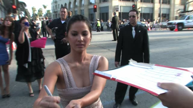 olivia munn at the iron man 2 premiere at el captain theater in hollywood at the celebrity sightings in los angeles at los angeles ca - olivia munn stock videos and b-roll footage