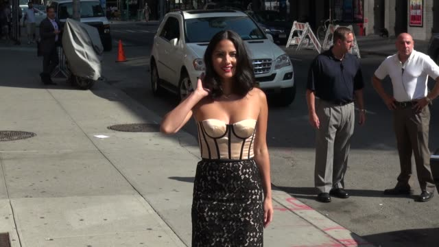 Olivia Munn at the 'Late Show with David Letterman' studio in New York NY on 8/27/13