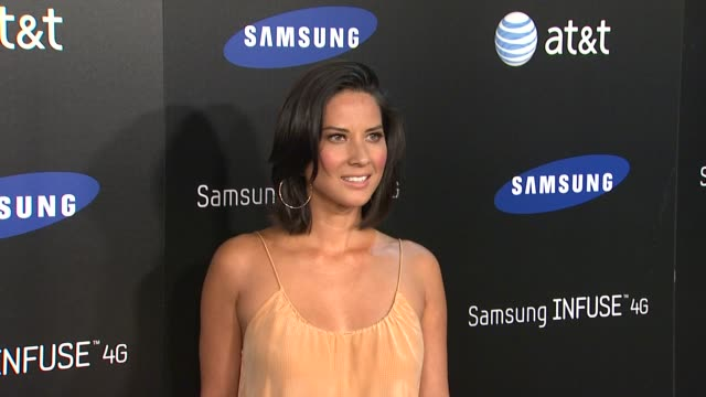 Olivia Munn at the Samsung Infuse 4G For ATT Launch Event Featuring Nicki Minaj at Los Angeles CA